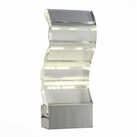 Настенный светодиодный светильник ST Luce Luogo SL580.701.01, LED 6W 4000K, хром, прозрачный, металл, пластик