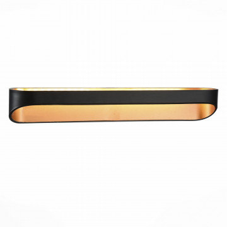 Настенный светодиодный светильник ST Luce Mensola SL582.401.01, LED 12W 4000K, черный, металл