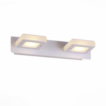 Настенный светодиодный светильник ST Luce Scaf SL583.101.02, LED 6W 4000K, белый, металл, металл с пластиком