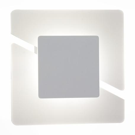 Настенный светодиодный светильник ST Luce Sezione SL594.501.01, LED 8W 4000K, белый, металл, пластик