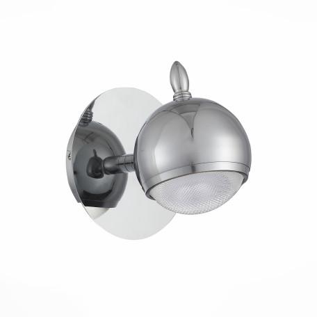 Настенный светодиодный светильник с регулировкой направления света ST Luce Polo SL570.101.01, LED 3W 6000K, хром, металл, металл с пластиком