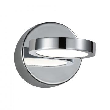 Настенный светодиодный светильник с регулировкой направления света ST Luce Colo SL588.501.01, LED 5W, 4000K (дневной), хром, белый, металл, пластик