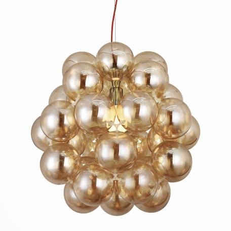 Подвесная люстра ST Luce Odetta SL533.093.03, 3xE27x60W, хром, янтарь, металл, стекло