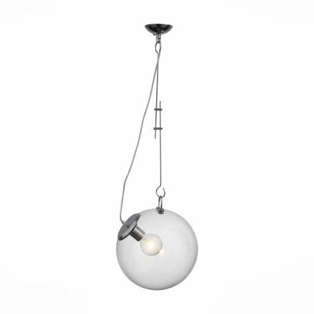 Подвесной светильник ST Luce Senza SL550.103.01, 1xE27x60W, хром, прозрачный, металл, стекло