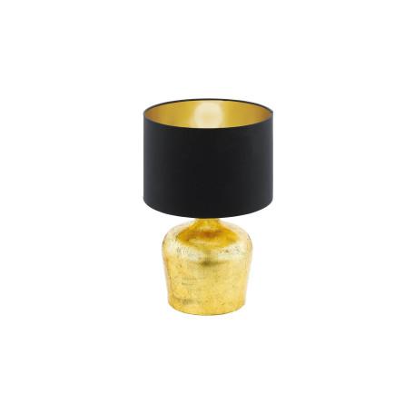 Настольная лампа Eglo Manalba 95386, 1xE27x60W, матовое золото, черный, металл, текстиль