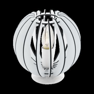 Настольная лампа Eglo Cossano 95794, 1xE14x40W, белый, черно-белый, металл, дерево