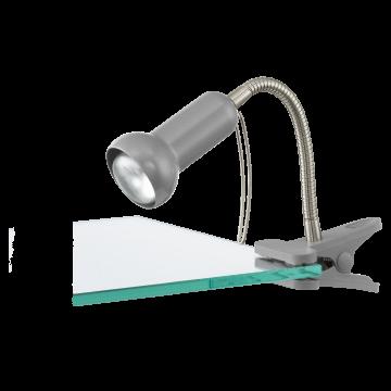 Светильник на прищепке Eglo Fabio 81265, 1xE14x40W, серебро, металл, пластик