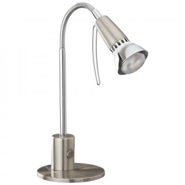 Настольная лампа Eglo Fox 1 86955, 1xE14x40W, никель, металл