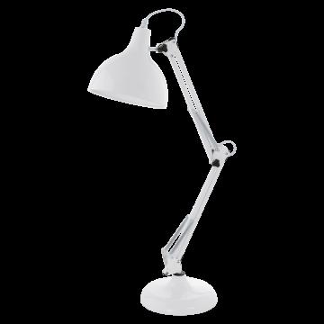 Настольная лампа Eglo Borgillio 94699, 1xE27x40W, белый, металл