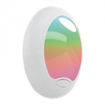 Штекерный светодиодный светильник-ночник Eglo Tineo 92964, LED 0,6W RGB, белый, пластик