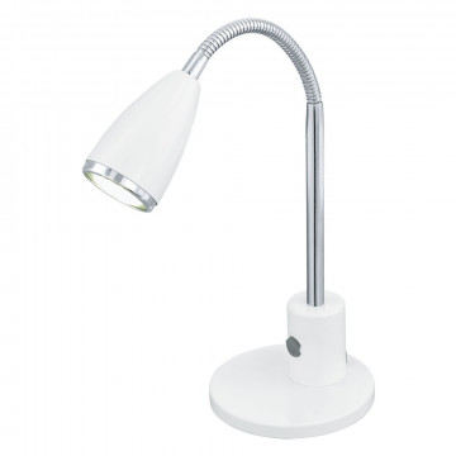 Настольная лампа Eglo Fox 92872, 1xGU10x3W, белый, хром, металл