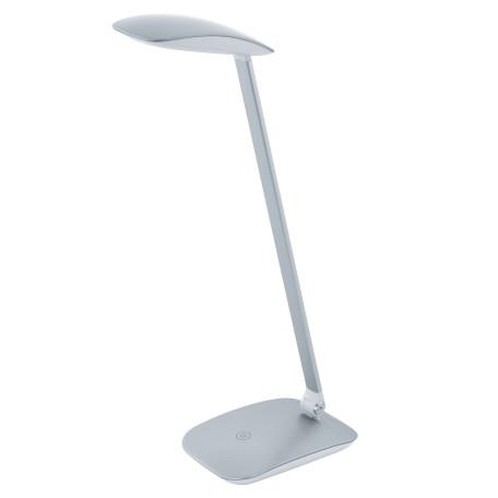 Настольная светодиодная лампа Eglo Cajero 95694, LED 4,5W 4000K 550lm CRI>80, серебро, пластик