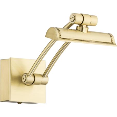 Настенный светильник для подсветки картин Kutek Elve ELV-PODS-1(Z)250, 1xG4x4,8W, золото, металл