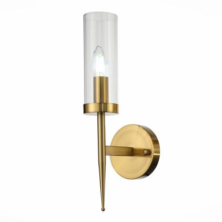 Бра ST Luce Acazio SL1159.301.01, 1xE14x60W, матовое золото, прозрачный, металл, стекло