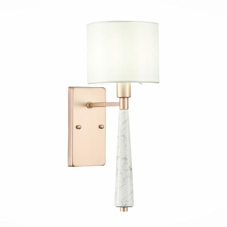 Бра ST Luce Vellino SL1163.201.01, 1xE14x40W, матовое золото, белый, металл, керамика, текстиль
