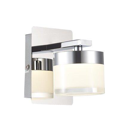 Светодиодное бра ST Luce Saltaggio SL1600.101.01, IP44, LED 5W 4000K 340lm, хром, белый, металл, стекло