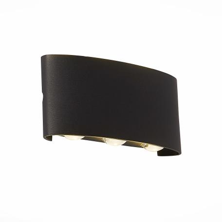 Настенный светодиодный светильник ST Luce Bisello SL089.401.06, IP54, LED 6W 4000K, черный, металл