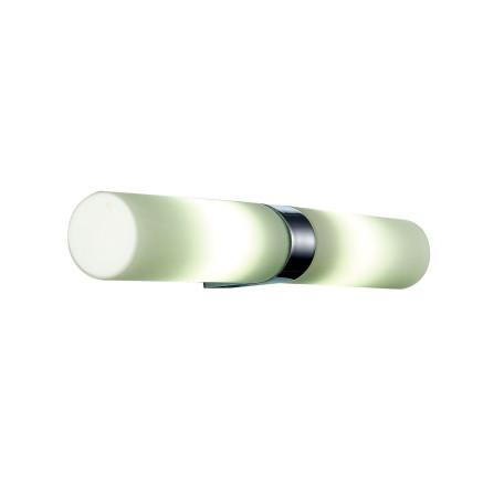 Настенный светильник ST Luce Tocia SL1301.101.02, IP44, 2xE14x40W, хром, белый, металл, стекло
