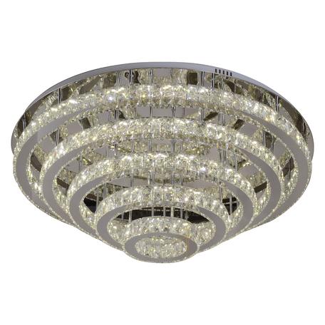 Потолочная светодиодная люстра с пультом ДУ Kink Light Тор-Кристалл 08555(3000-6000K)