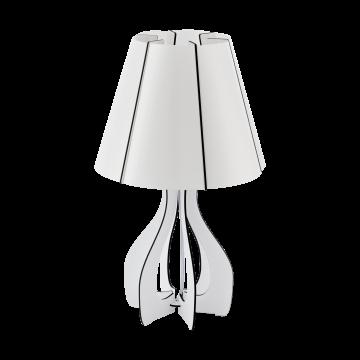 Настольная лампа Eglo Cossano 94947, 1xE27x60W, белый, черный, дерево, пластик
