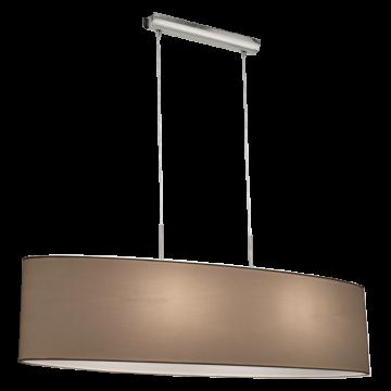 Подвесной светильник Eglo Pasteri 31584, 2xE27x60W, никель, белый, металл, текстиль