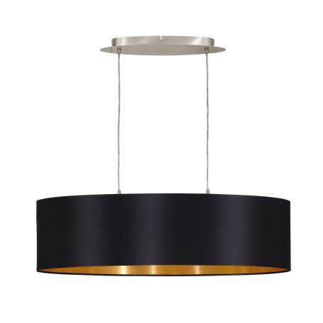 Подвесной светильник Eglo Maserlo 31611, 2xE27x60W, никель, черный, металл, текстиль