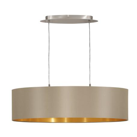 Подвесной светильник Eglo Maserlo 31613, 2xE27x60W, никель, серый, металл, текстиль