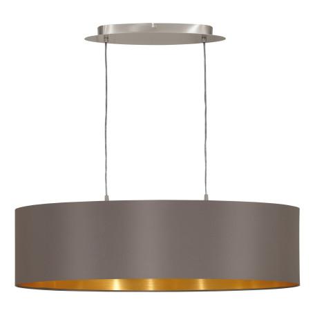 Подвесной светильник Eglo Maserlo 31614, 2xE27x60W, никель, серый, металл, текстиль