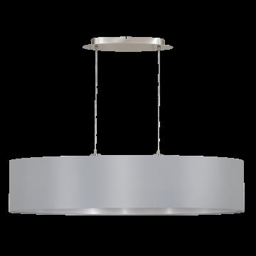 Подвесной светильник Eglo Maserlo 31617, 2xE27x60W, никель, серый, металл, текстиль