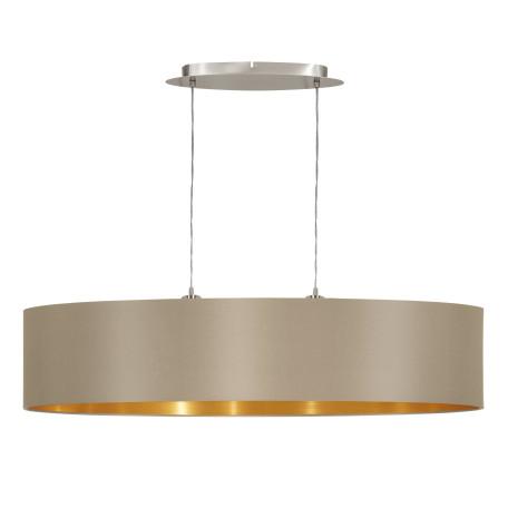 Подвесной светильник Eglo Maserlo 31618, 2xE27x60W, никель, серый, металл, текстиль