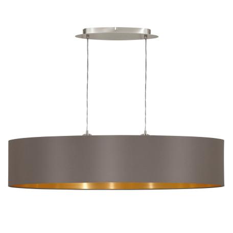 Подвесной светильник Eglo Maserlo 31619, 2xE27x60W, никель, серый, металл, текстиль