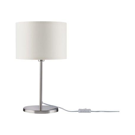 Настольная лампа Paulmann Tessa 70923, 1xE14x40W, хром, бежевый, металл, текстиль
