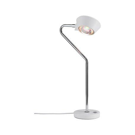 Настольная светодиодная лампа Paulmann Ramos 70921, LED 8W, белый, металл