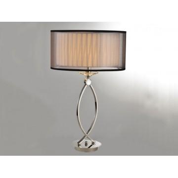 Основание настольной лампы Newport 1600 1601/T без абажуров (М0056438), 1xE14x60W, никель, прозрачный, металл, хрусталь