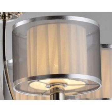 Абажур Newport 1600 Абажур к 1601/FL серебристый (М0056423), белый, серебро, пластик, текстиль