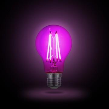 Филаментная светодиодная лампа Gauss Фито 102802906 A60 E27 6W 290lm 1000K (теплый) CRI>80 220-240V, недиммируемая, гарантия 2 года