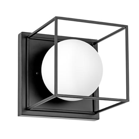 Настенный светильник Lightstar Gabbia 732617, 1xE14x40W, черный, черно-белый, металл, металл со стеклом