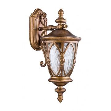 Настенный фонарь Maytoni Rua Augusta S103-48-01-R, IP44, 1xE27x60W, матовое золото, прозрачный, металл, металл со стеклом, стекло с металлом - миниатюра 2