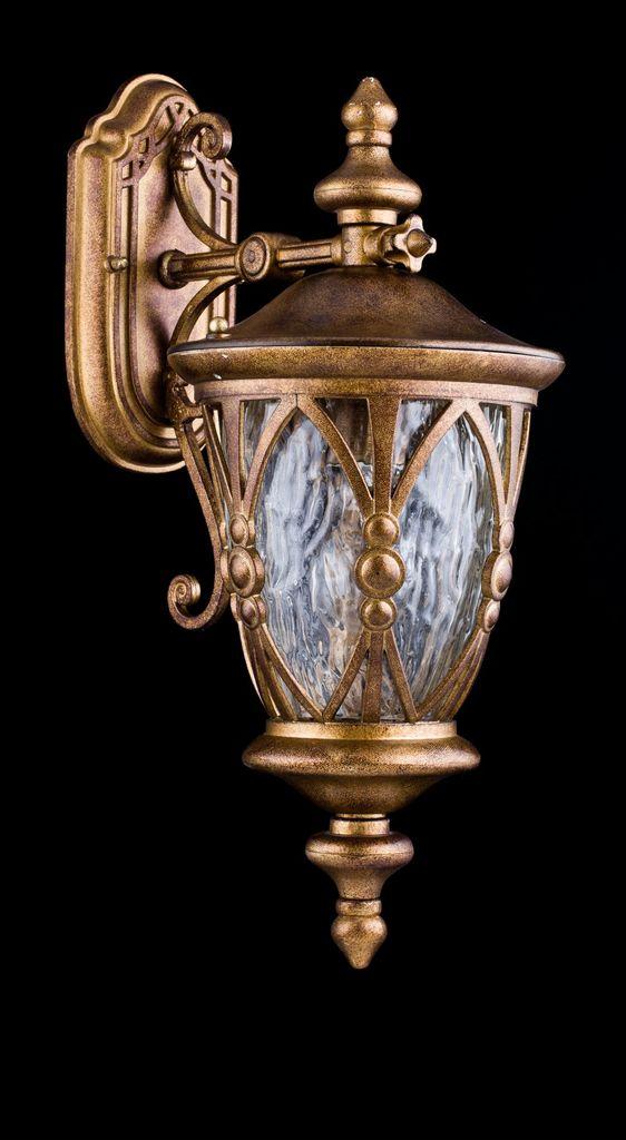 Настенный фонарь Maytoni Rua Augusta S103-48-01-R, IP44, 1xE27x60W, матовое золото, прозрачный, металл, металл со стеклом, стекло с металлом - фото 4