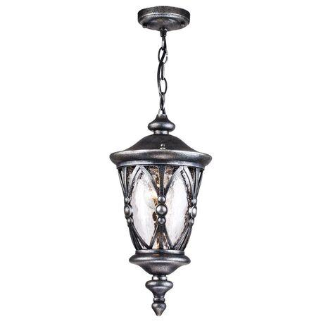 Подвесной светильник Maytoni Rua Augusta S103-44-41-B, IP44, 1xE27x60W, черненое серебро, прозрачный, металл, стекло