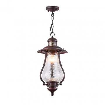 Подвесной светильник Maytoni La Rambla S104-10-41-R, IP44, 1xE27x60W, коричневый, прозрачный, металл, стекло