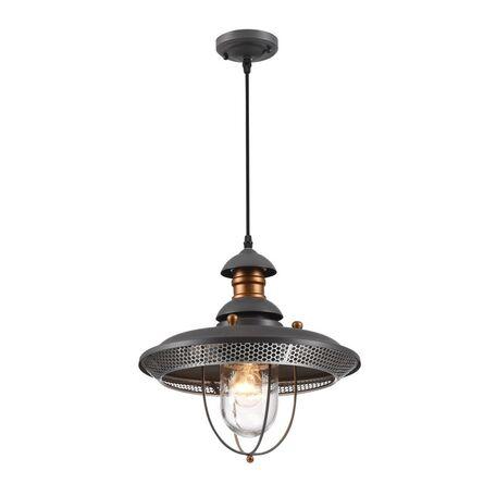 Подвесной светильник Maytoni Magnificent Mile S105-106-41-G, IP44, 1xE27x60W, медь, серый, прозрачный, металл, стекло