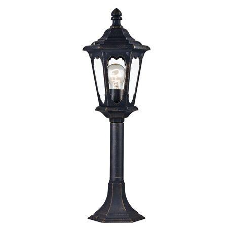 Садово-парковый светильник Maytoni Oxford S101-60-31-R, IP44, 1xE27x60W, черный с золотой патиной, прозрачный, металл, стекло