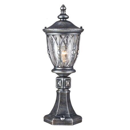 Садово-парковый светильник Maytoni Rua Augusta S103-59-31-B, IP44, 1xE27x60W, черненое серебро, прозрачный, металл, стекло - миниатюра 1