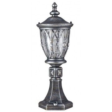 Садово-парковый светильник Maytoni Rua Augusta S103-59-31-B, IP44, 1xE27x60W, черненое серебро, прозрачный, металл, стекло - миниатюра 2