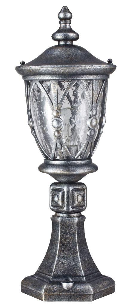 Садово-парковый светильник Maytoni Rua Augusta S103-59-31-B, IP44, 1xE27x60W, черненое серебро, прозрачный, металл, металл со стеклом - фото 2