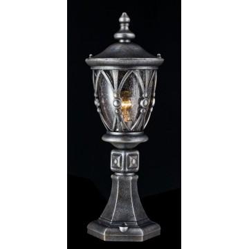 Садово-парковый светильник Maytoni Rua Augusta S103-59-31-B, IP44, 1xE27x60W, черненое серебро, прозрачный, металл, металл со стеклом - миниатюра 3