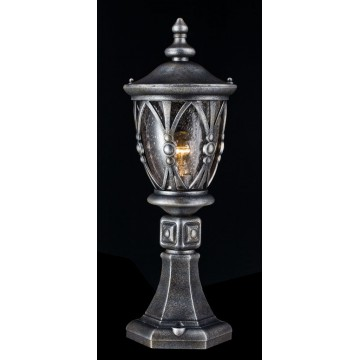 Садово-парковый светильник Maytoni Rua Augusta S103-59-31-B, IP44, 1xE27x60W, черненое серебро, прозрачный, металл, стекло - миниатюра 3