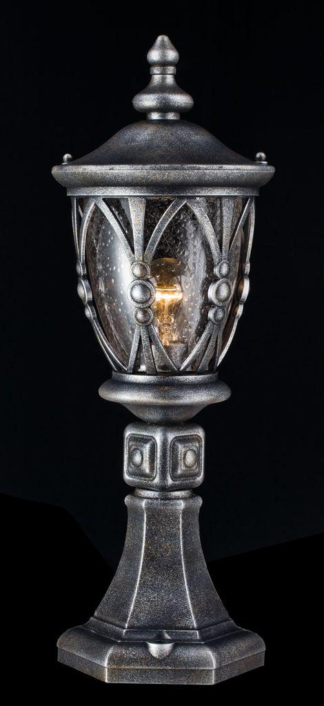 Садово-парковый светильник Maytoni Rua Augusta S103-59-31-B, IP44, 1xE27x60W, черненое серебро, прозрачный, металл, стекло - фото 3
