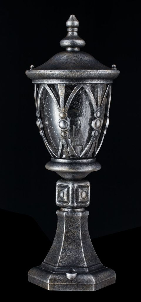 Садово-парковый светильник Maytoni Rua Augusta S103-59-31-B, IP44, 1xE27x60W, черненое серебро, прозрачный, металл, металл со стеклом - фото 4